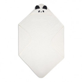 Kinderbadetuch Panda - Creme Weiss Liewood