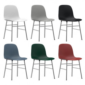 Stuhl Form - Chrom oder Messing - Farbe nach Wahl Multi-Farbe Normann Copenhagen