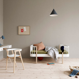 Wood Mitwachsendes Juniorbett - Eiche Weiss Oliver Furniture