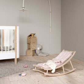 Mitwachsende Babywippe – Rosa/Natur Rosa Oliver Furniture
