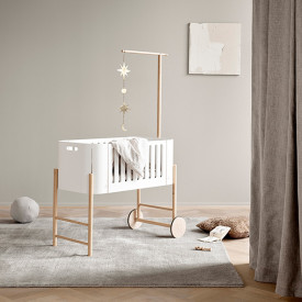 Beistelbett Wood - Eiche Weiss Oliver Furniture