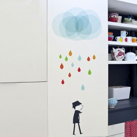 Sticker Monsieur I Multi-Farbe Poisson Bulle