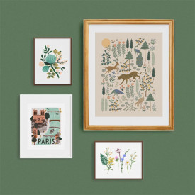 Poster 40 x 50 cm – Menagerie Forest Multi-Farbe Rifle Paper Co.