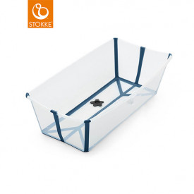 Badewanne XL Flexi Bath - Transparent Blau Blau Stokke®