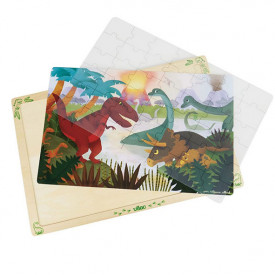 Puzzle 42 Teile - Dinosaurier Multi-Farbe Vilac
