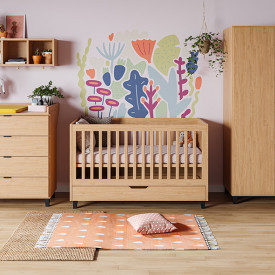 Babybett 70 x 140 cm Simple - Eiche Natural Vox