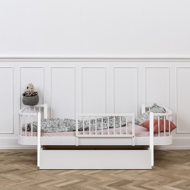 Wood Bettschublade Weiss Oliver Furniture
