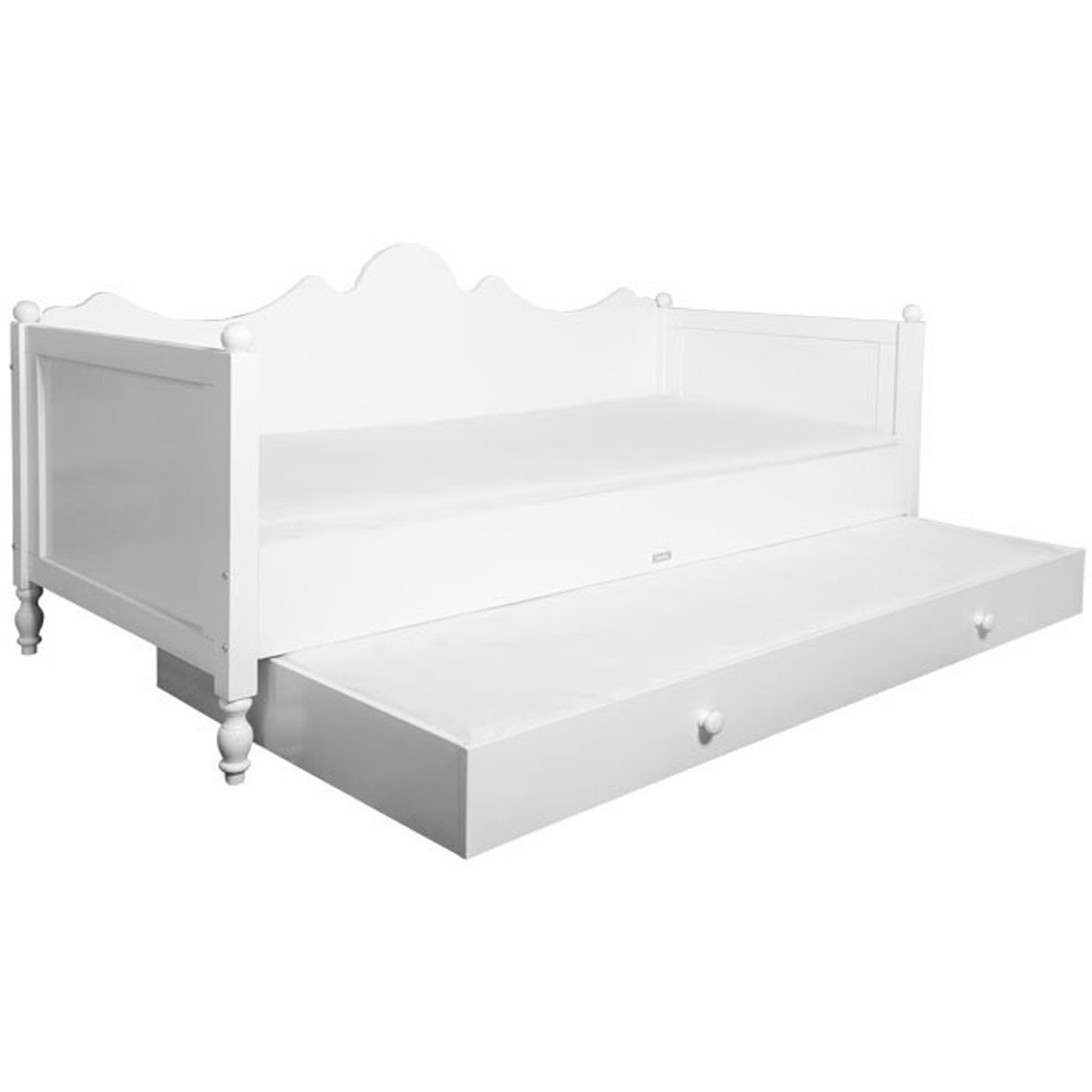 Belle white bench bed by bopita mylittleroom - Lit banquette double ...
