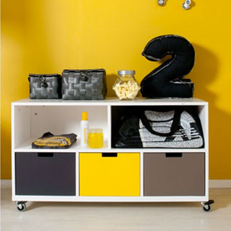 cabinet on wheels bob mix match bopita mylittleroom. Black Bedroom Furniture Sets. Home Design Ideas