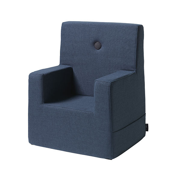 Kids Chair XL - Dark Blue / Black Blue by KlipKlap