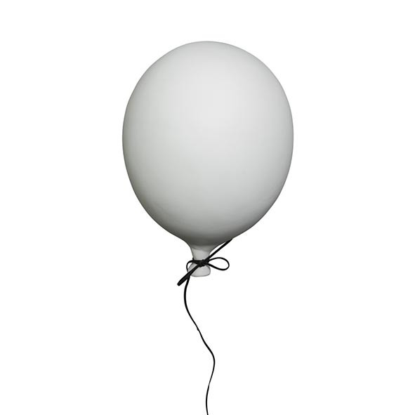 Ceramic Balloon Decoration - M - White  White ByON