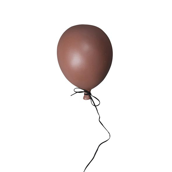 Ceramic Balloon Decoration - S - Dusty Red Red ByON