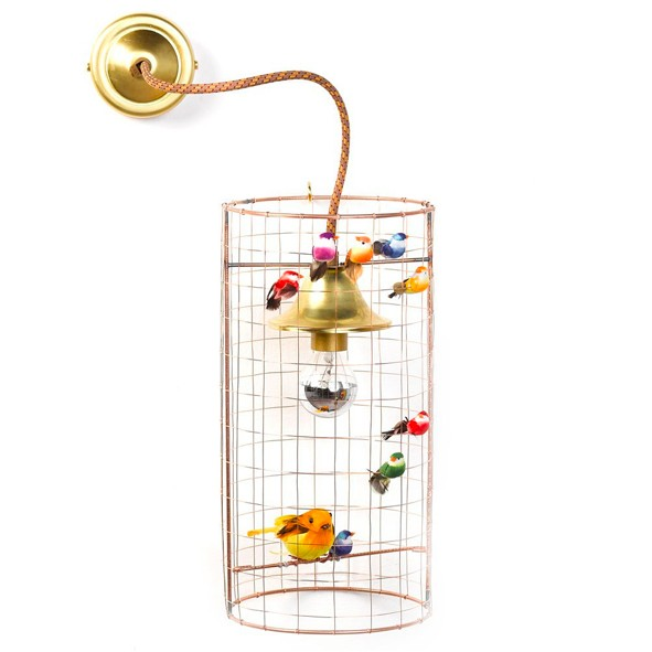 Wall Lamp Birdcage Multicolour Mathieu Challières