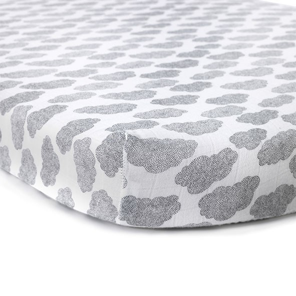 Fitted sheet Cloud - 70 x 90 White Charlie Crane