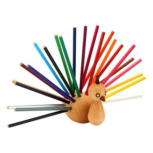 Peacock pencil holder Nature EO