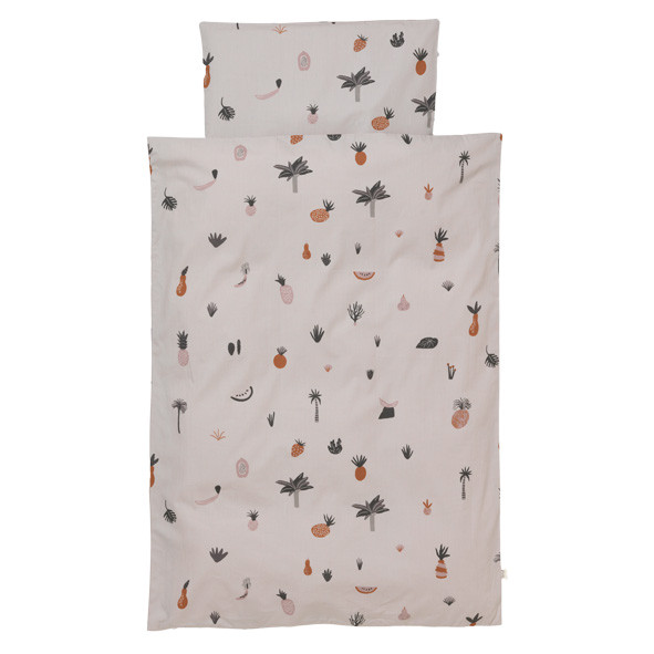 Fruiticana Bedding 140 x 200 cm Grey Ferm Living Kids