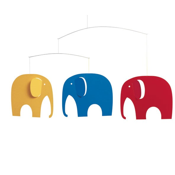 Elephant Party Mobile Multicolour Flensted