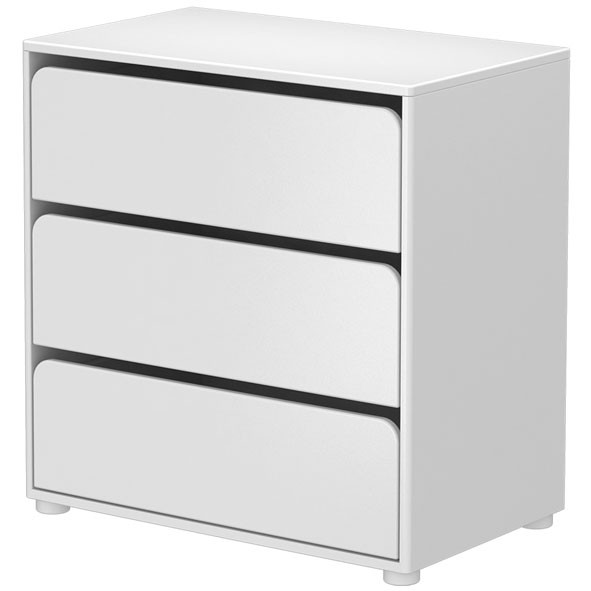 3 Drawer Dresser CABBY White Flexa