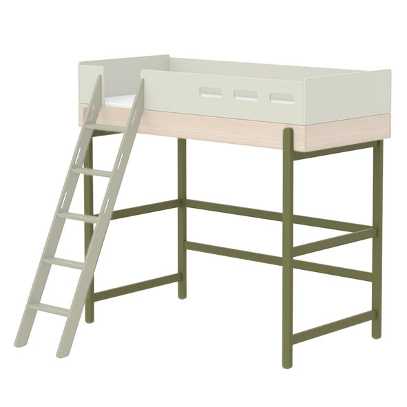 Bed legs for high and bunk beds Popsicle - Kiwi Green Flexa
