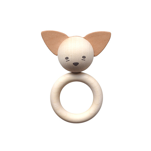 Wooden Teether - Fox Nature Garbo and Friends