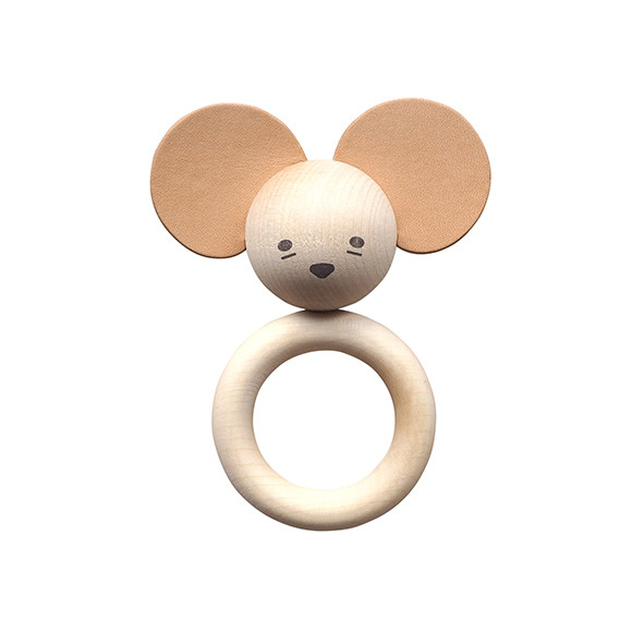 Wooden Teether - Mouse Nature Garbo and Friends