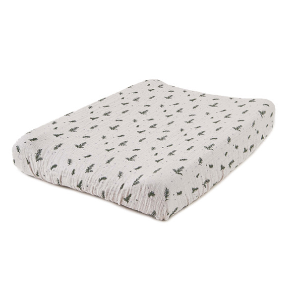 Muslin Changing Mattress Cover - Rosemary White Garbo and Friends