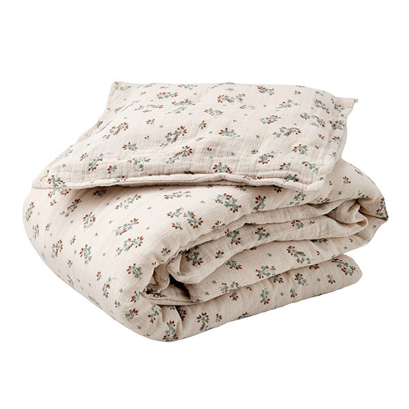 Muslin Bed Linen 100x140 - Clover  Multicolour Garbo and Friends