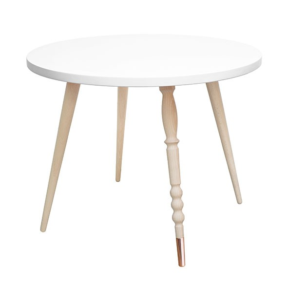 Round table My Lovely Ballerine - Beech / Copper - White White Jungle by Jungle