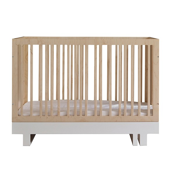 Roof Baby Bed 60x120cm Nature Kutikai