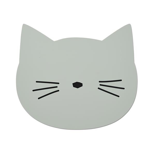 Silicone Placemat Cat - Dusty Mint Green Liewood