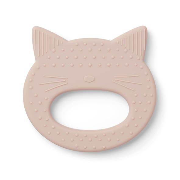 Silicone Teether Cat - Rose Pink Liewood
