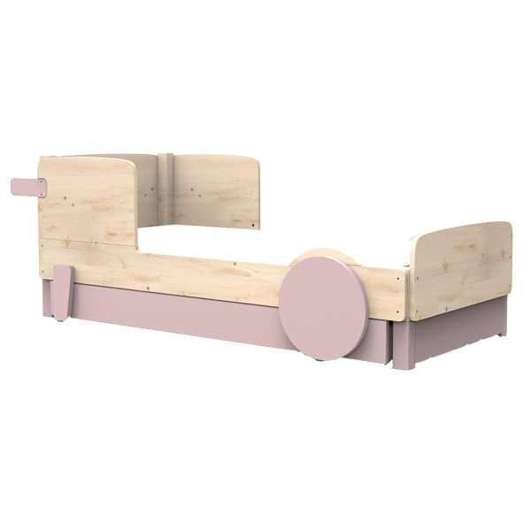 Single Bed w/ Underbed Drawer Discovery Nature Mathy by Bols