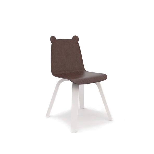 Bear Play Chair - Walnut - Set of 2 White Oeuf NYC
