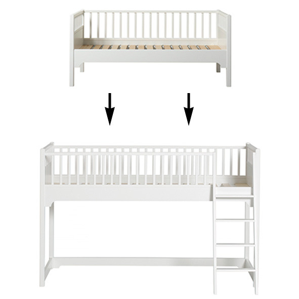 Seaside Conversion Kit - Junior day bed to low loft bed White Oliver Furniture