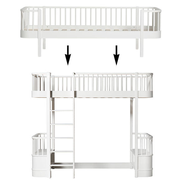 Wood Conversion Kit - Day bed to loft bed - White White Oliver Furniture