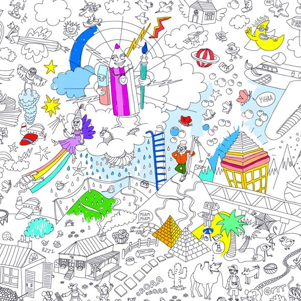 Giant Coloring Poster - Fantastic - OMY Design & Play | MyLittleRoom