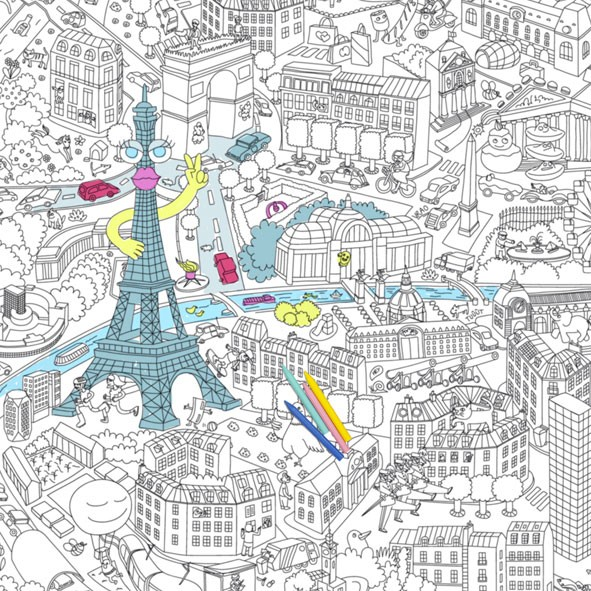 Giant Coloring Poster - Paris - OMY Design & Play | MyLittleRoom