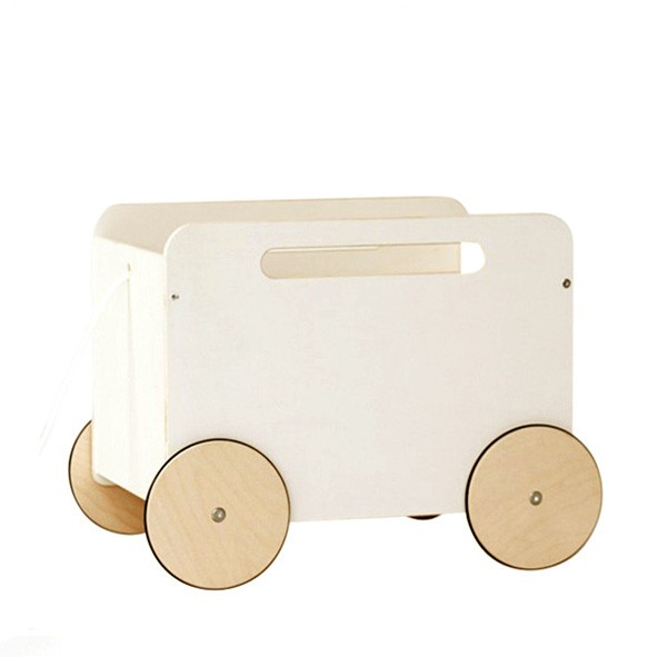Toy Chest on wheels White Ooh Noo