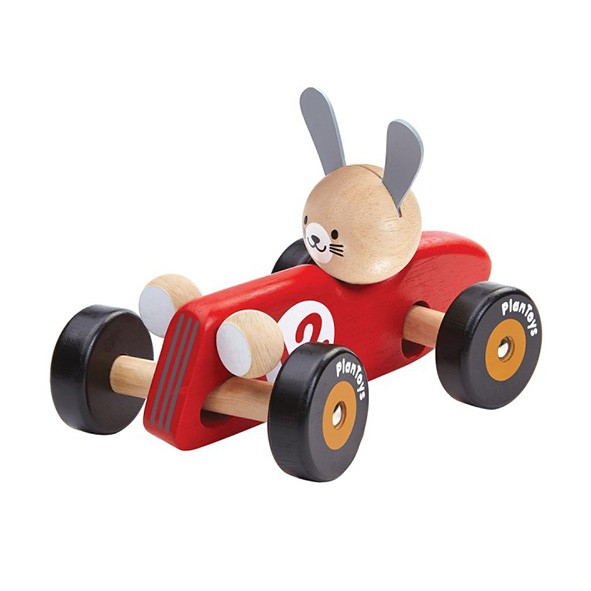 Rabbit Racing Car - Red Red Plantoys