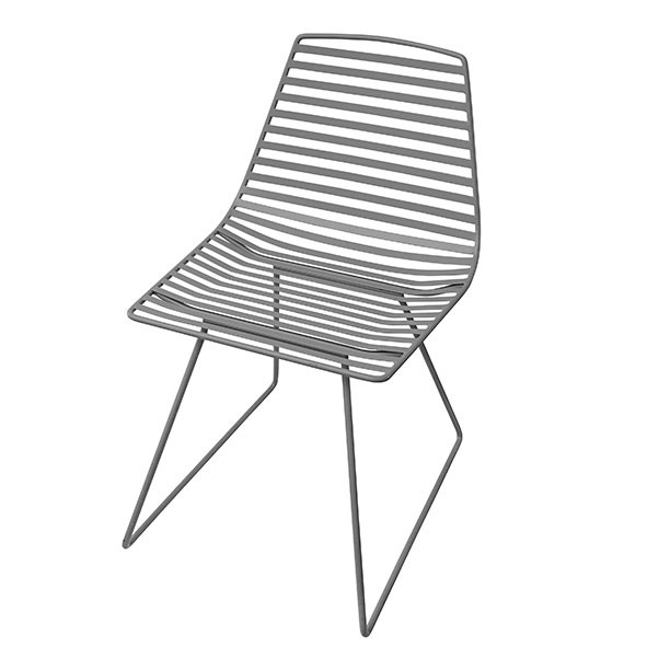 Metal chair Me-Sit - Grey - L Grey Sebra