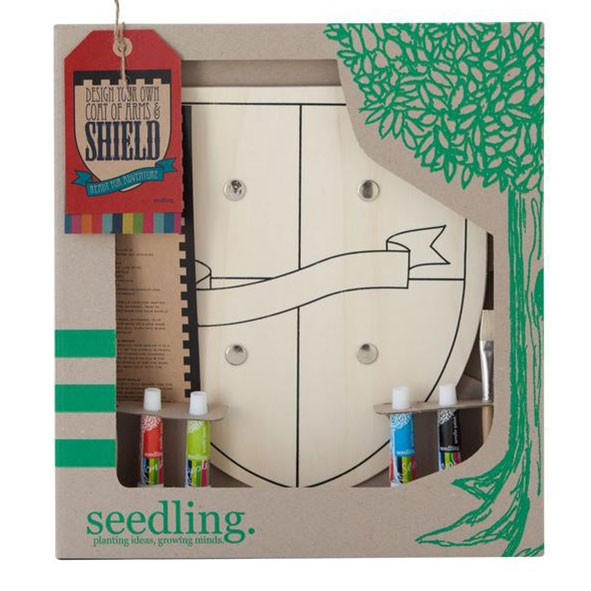 Design your own Wooden Shield Multicolour Seedling