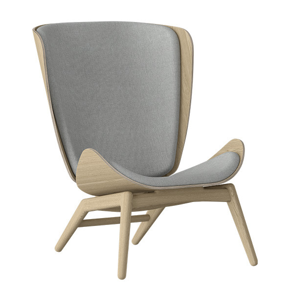 The Reader Wing Chair - Oak / Silver Grey Nature Umage