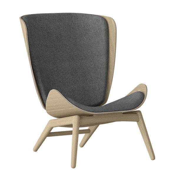 The Reader Wing Chair - Oak / Slate Grey Nature Umage