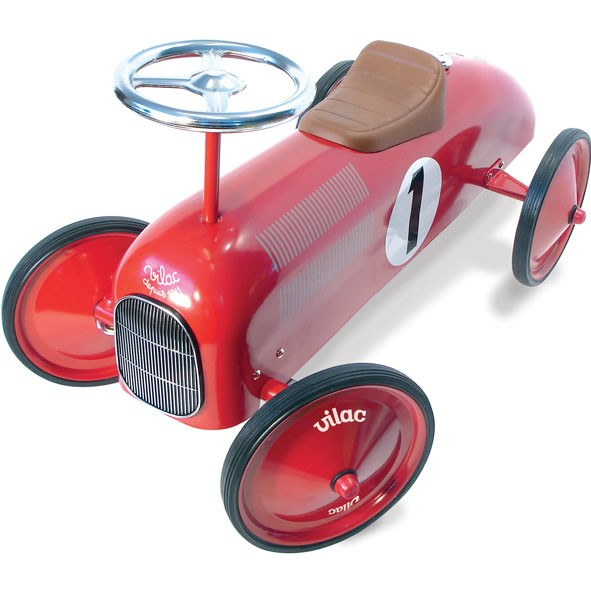 vintage kids ride on toy car red vilac mylittleroom. Black Bedroom Furniture Sets. Home Design Ideas