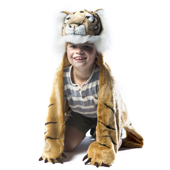 Disappearing man white tiger adult costume
