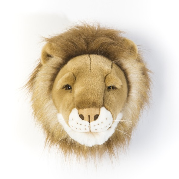 Trophy Head Lion Cesar Brown Wild and Soft