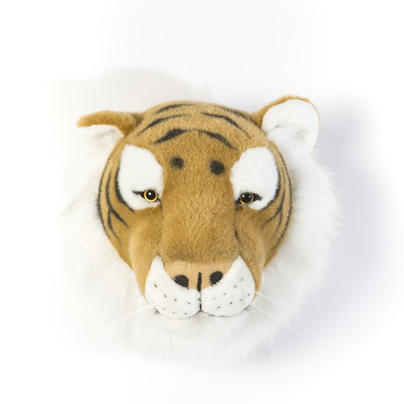 Trophy Head Tiger Felix Brown Wild and Soft