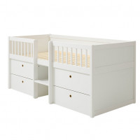 Mid-High Compact Bed Freja - White White Flexa