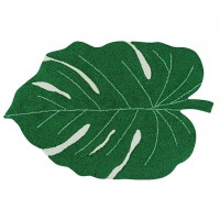 Plants Rug 120 x 160cm - Monstera Leaf Green Lorena Canals