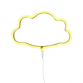 Neon Style Light Cloud - Yellow